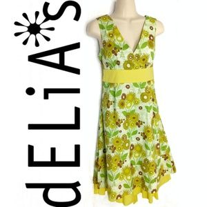 dELIA*s Beaded Cotton Floral Surplice Dress Sz 7/8